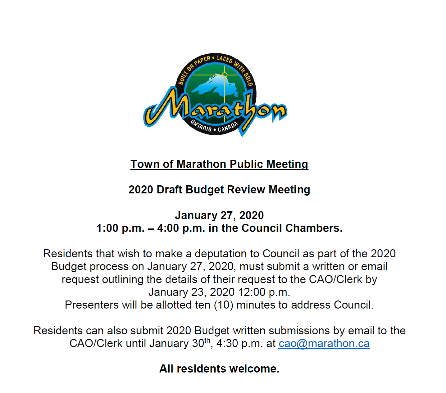Council Budget Meeting